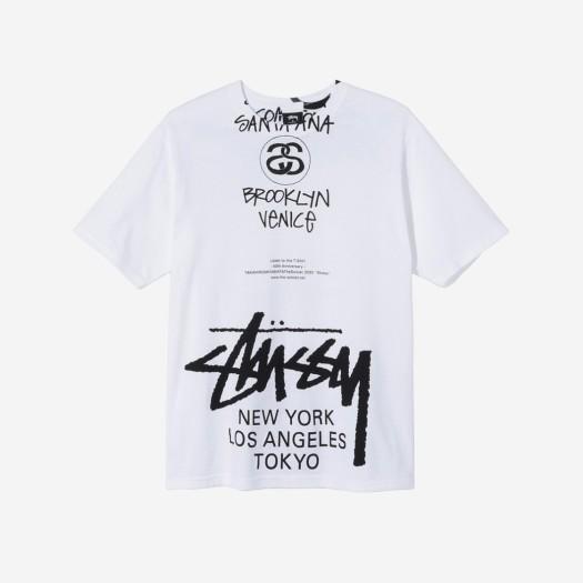 스투시 x 타카히로미야시타 더 솔로이스트 40 월드투어 티셔츠