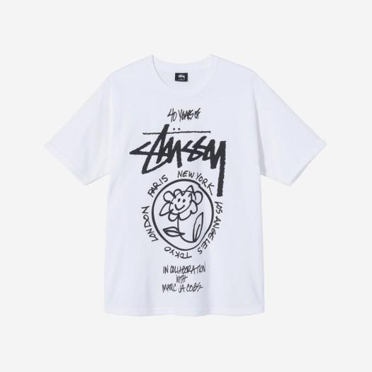 스투시 x 마크 제이콥스 40 월드투어 티셔츠