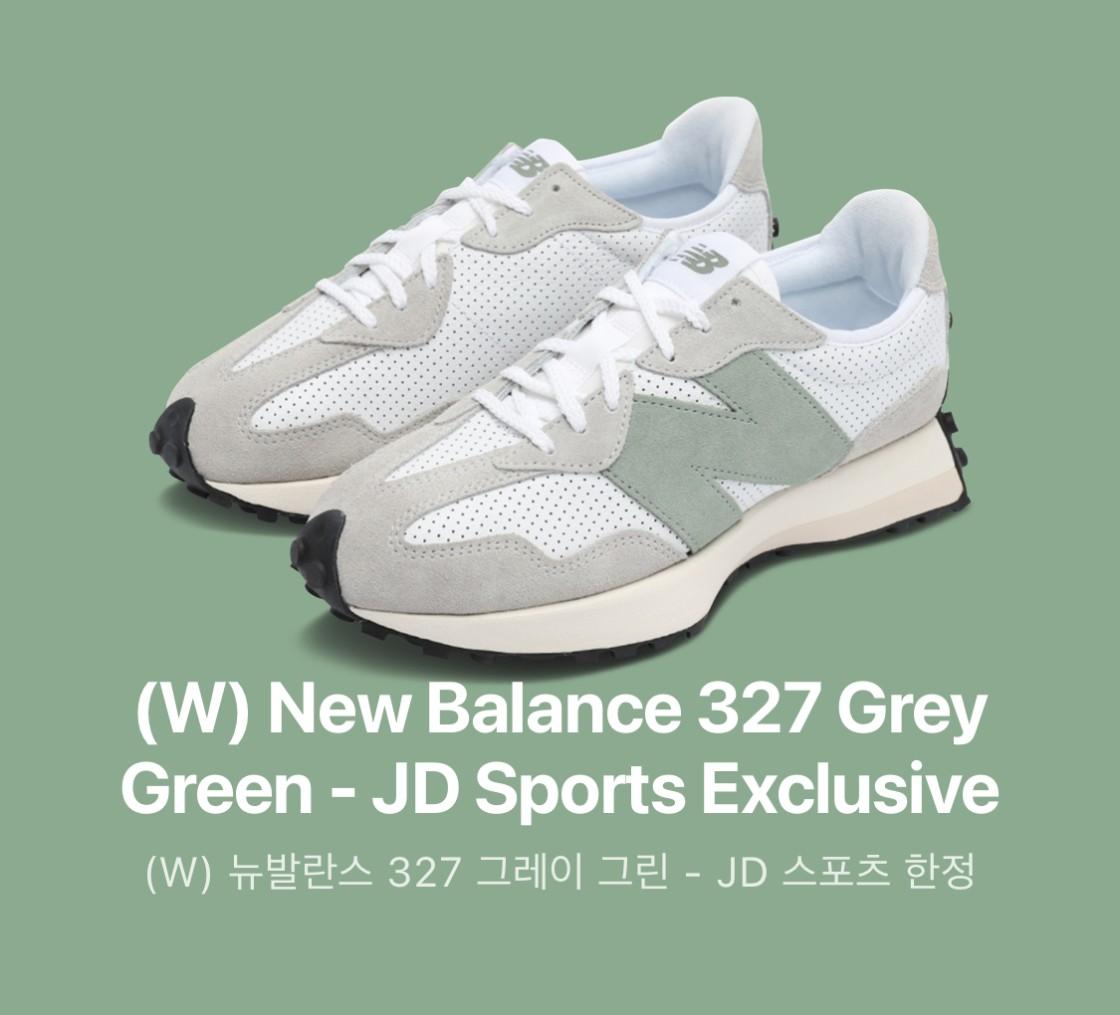 (W) 뉴발란스 327 그레이 그린 - JD 스포츠 한정
