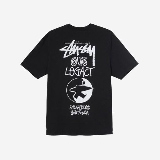 스투시 x 아워레가시 서프맨 티셔츠 블랙