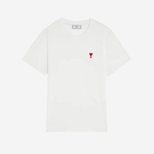 아미 스몰 하트 로고 티셔츠 화이트/블랑