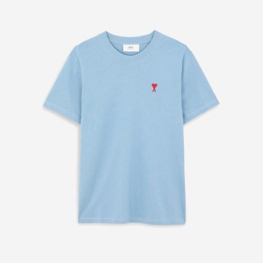 아미 스몰 하트 로고 티셔츠 라이트 블루/블루 클레어