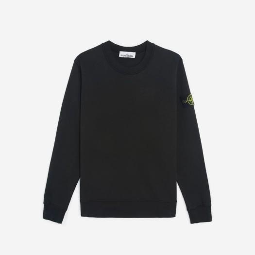 스톤 아일랜드 63051 크루넥 스웨트셔츠 블랙 (21SS)