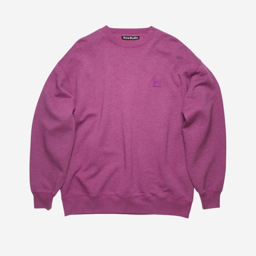 아크네 스튜디오 포바 페이스 크루넥 스웨트셔츠 핑크