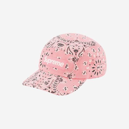 슈프림 반다나 캠프캡 핑크 (21SS)