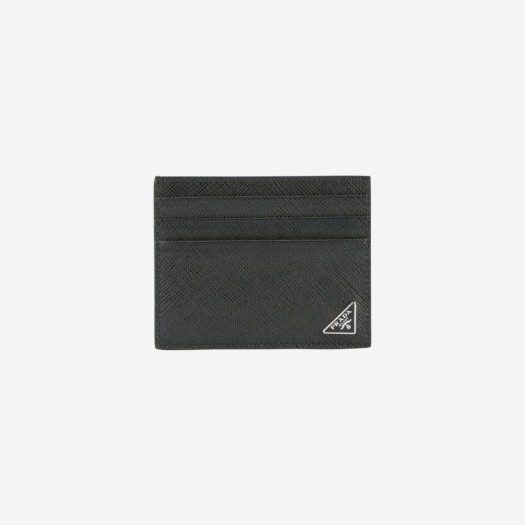 프라다 사피아노 레더 카드 홀더 블랙