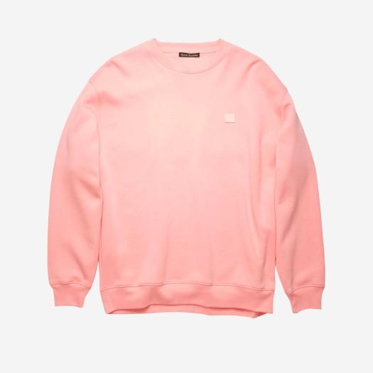 아크네 스튜디오 포바 페이스 크루넥 스웨트셔츠 블러쉬 핑크