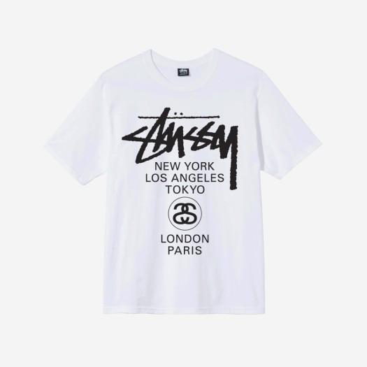 스투시 월드투어 티셔츠 화이트 2021