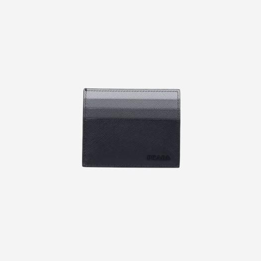 프라다 사피아노 레더 카드 홀더 멀티 블랙