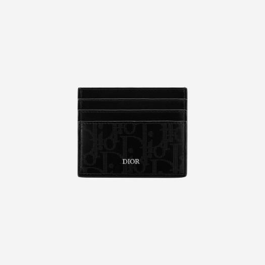 디올 블랙 디올 오블리크 갤럭시 레더 카드 홀더