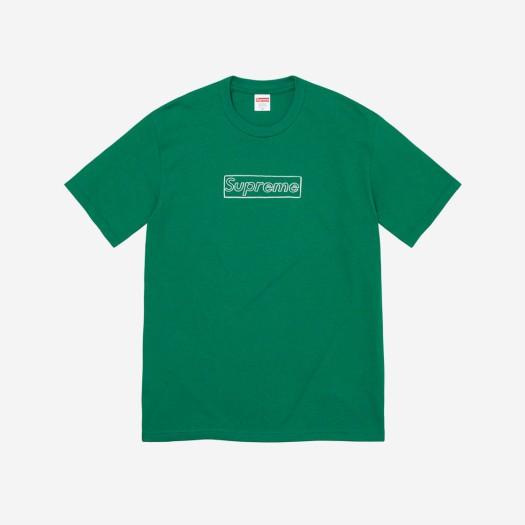 슈프림 x 카우스 초크 로고 티셔츠 라이트 파인 (21SS)
