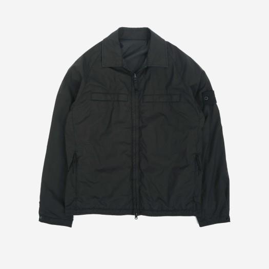 스톤 아일랜드 119F4 고스트 피스 스트레치 코튼 리버시블 오버셔츠 블랙 (21SS)