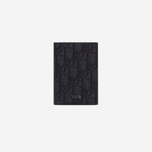디올 블랙 디올 오블리크 자카드 2단 카드 홀더