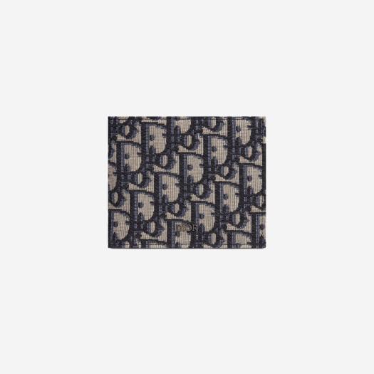 디올 컴팩트 지갑 베이지 & 블랙 디올 오블리크 자카드