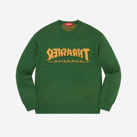 슈프림 x 트래셔 스웨터 그린 (21FW)