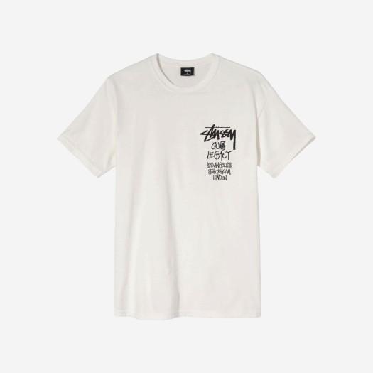 스투시 x 아워레가시 서프맨 피그먼트 다이드 티셔츠 내츄럴