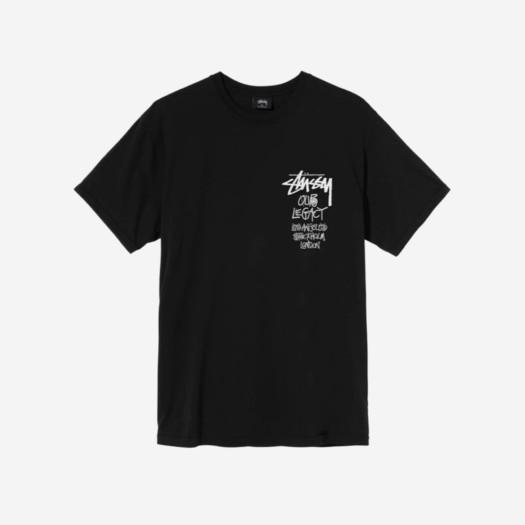 스투시 x 아워레가시 서프맨 피그먼트 다이드 티셔츠 블랙