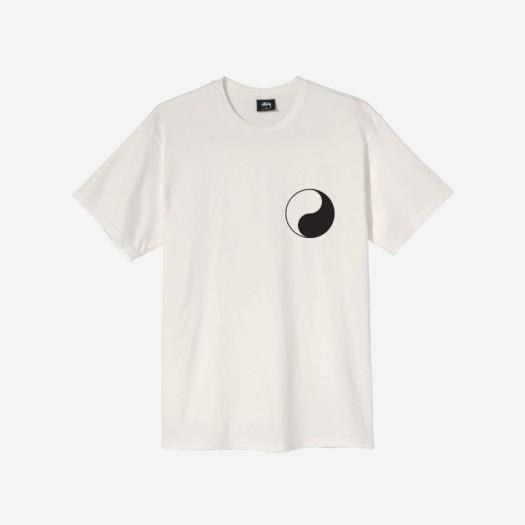 스투시 x 아워레가시 음양 피그먼트 다이드 티셔츠 내츄럴
