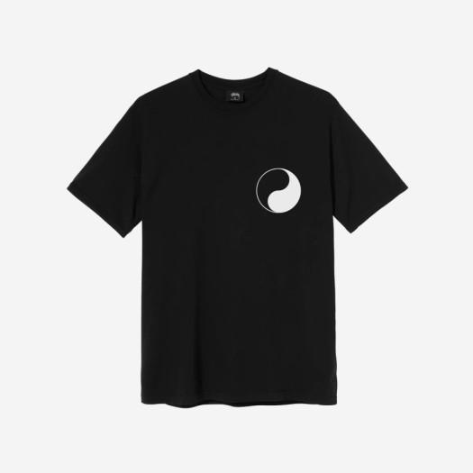 스투시 x 아워레가시 음양 피그먼트 다이드 티셔츠 블랙