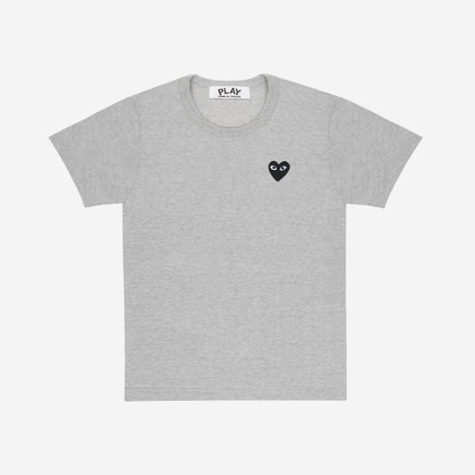 (W) 플레이 꼼데가르송 블랙 와펜 티셔츠 그레이