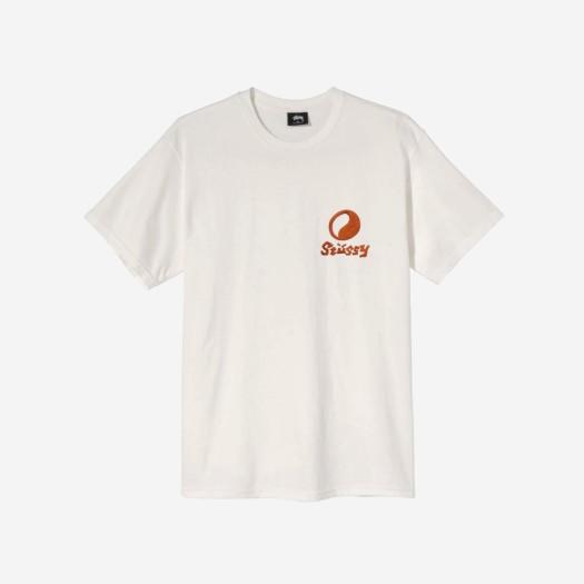 스투시 x 아워레가시 포트레이트 피그먼트 다이드 티셔츠 내츄럴